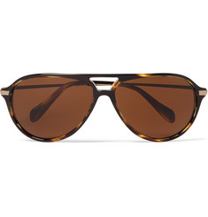Oliver Peoples Braedon Aviator-Style Acetate and Gold-Tone Polarised Sunglasses