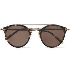 Oliver Peoples Remick Round-Frame Tortoiseshell Acetate and Burnished Gold-Tone Sunglasses