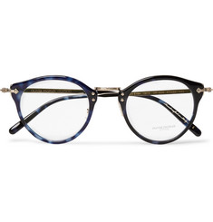 Oliver Peoples OP-505 Round-Frame Acetate and Pale Gold-Tone Optical Glasses