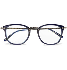 Oliver Peoples OP-506 D-Frame Acetate and Gunmetal-Tone Optical Glasses