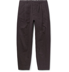 Fanmail Tapered Pleated Organic Cotton Trousers