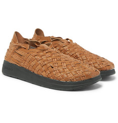Malibu + Missoni Woven Faux Leather Sandals