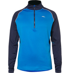 Kjus Golf - Diamond Fleece-Back Stretch-Shell Half-Zip Top