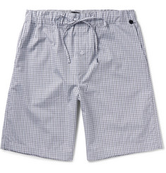 Hanro Checked Cotton Pyjama Shorts