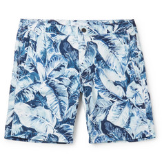 Onia Calder Long-Length Printed Swim Shorts
