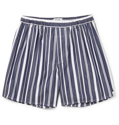 Sleepy Jones Victor Striped Cotton Boxer Shorts