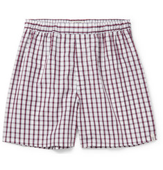 Sleepy Jones Victor Checked Cotton Boxer Shorts