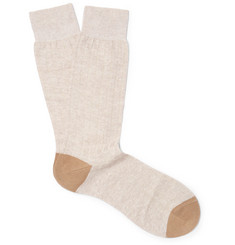Pantherella Hamada Ribbed Stretch-Knit Socks