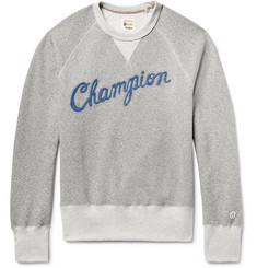 Todd Snyder + Champion Embroidered Fleece-Back Cotton-Blend Jersey Sweatshirt