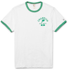 Todd Snyder + Champion Printed Slub Cotton-Jersey T-Shirt