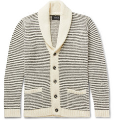 Howlin' Shawl-Collar Striped Wool Cardigan