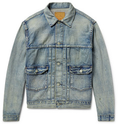 RRL - Distressed Selvedge Denim Jacket