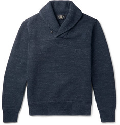 RRL - Shawl-Collar Mélange Cotton Sweater
