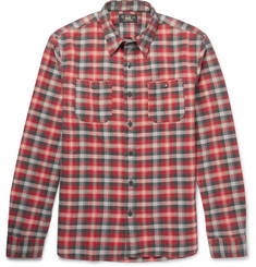 RRL Tradesman Checked Cotton-Flannel Shirt