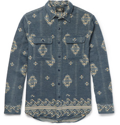 RRL Matlock Brushed-Cotton Jacquard Shirt