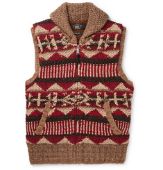 RRL Shawl-Collar Linen, Silk, Wool, Cotton and Mohair-Blend Gilet