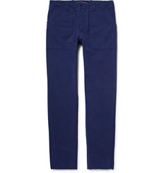 The Workers Club - Garment-Dyed Cotton-Twill Chinos