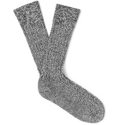 The Workers Club - Mélange Stretch Merino Wool-Blend Socks