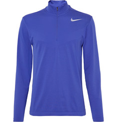 Nike Golf Mesh-Panelled Knitted Dri-FIT Half-Zip Top