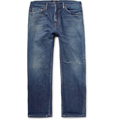 Chimala Cropped Distressed Selvedge Denim Jeans
