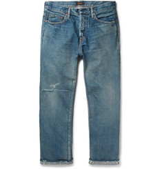Chimala Cropped Distressed Denim Jeans