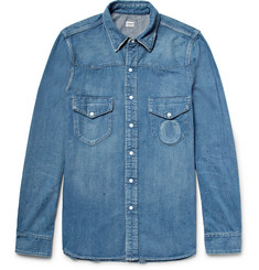 Chimala - Slim-Fit Distressed Denim Western Shirt
