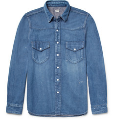 Chimala Slim-Fit Denim Western Shirt