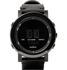 Suunto - Essential Ceramic, Stainless Steel and Leather Digital Watch