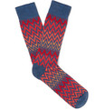 Anonymous Ism - Patterned Stretch Cotton-Blend Socks