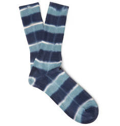 Anonymous Ism - Tie-Dyed Cotton-Blend Socks