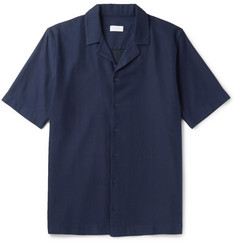 Sunspel - Camp-Collar Textured-Cotton Shirt