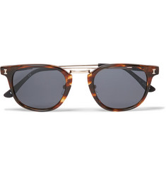 Illesteva Tribeca II D-Frame Acetate and Gold-Tone Sunglasses