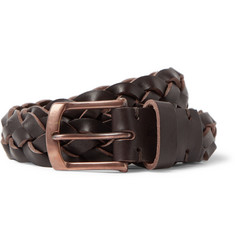 Oliver Spencer - 3cm Brown Woven Leather Belt