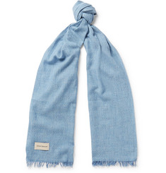 Oliver Spencer Solaio Fringed Mélange Cotton Scarf