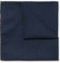 Oliver Spencer Cromer Cotton-Jacquard Pocket Square
