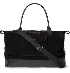 Oliver Spencer - Pebble-Grain Leather-Trimmed Suede Holdall