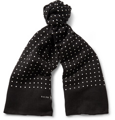 Polo Ralph Lauren - Polka-Dot Linen and Cotton-Blend Scarf