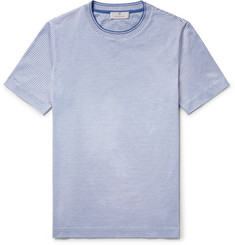 Canali Striped Knitted Cotton T-Shirt