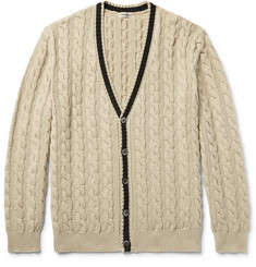 Camoshita - Cable-Knit Cotton Cardigan