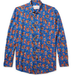 Our Legacy Slim-Fit Floral-Print Matte-Satin Shirt