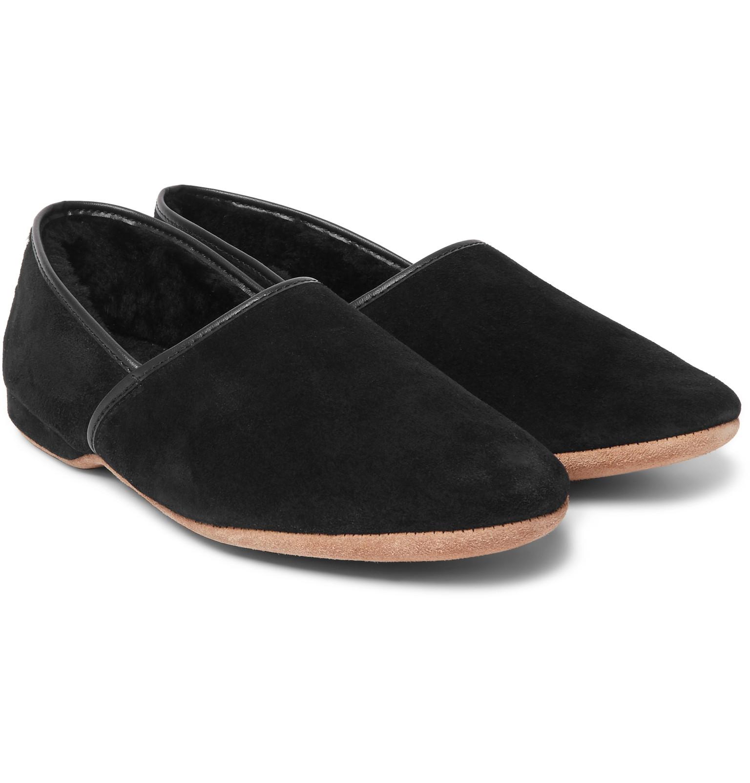 Mens Leather Bedroom Slippers Mens Designer Slippers Shop Mens Fashion Online At Mr Porter