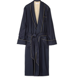 Derek Rose Duke Herringbone Cashmere Robe
