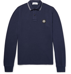 Stone Island - Slim-Fit Stretch-Cotton Piqué Polo Shirt
