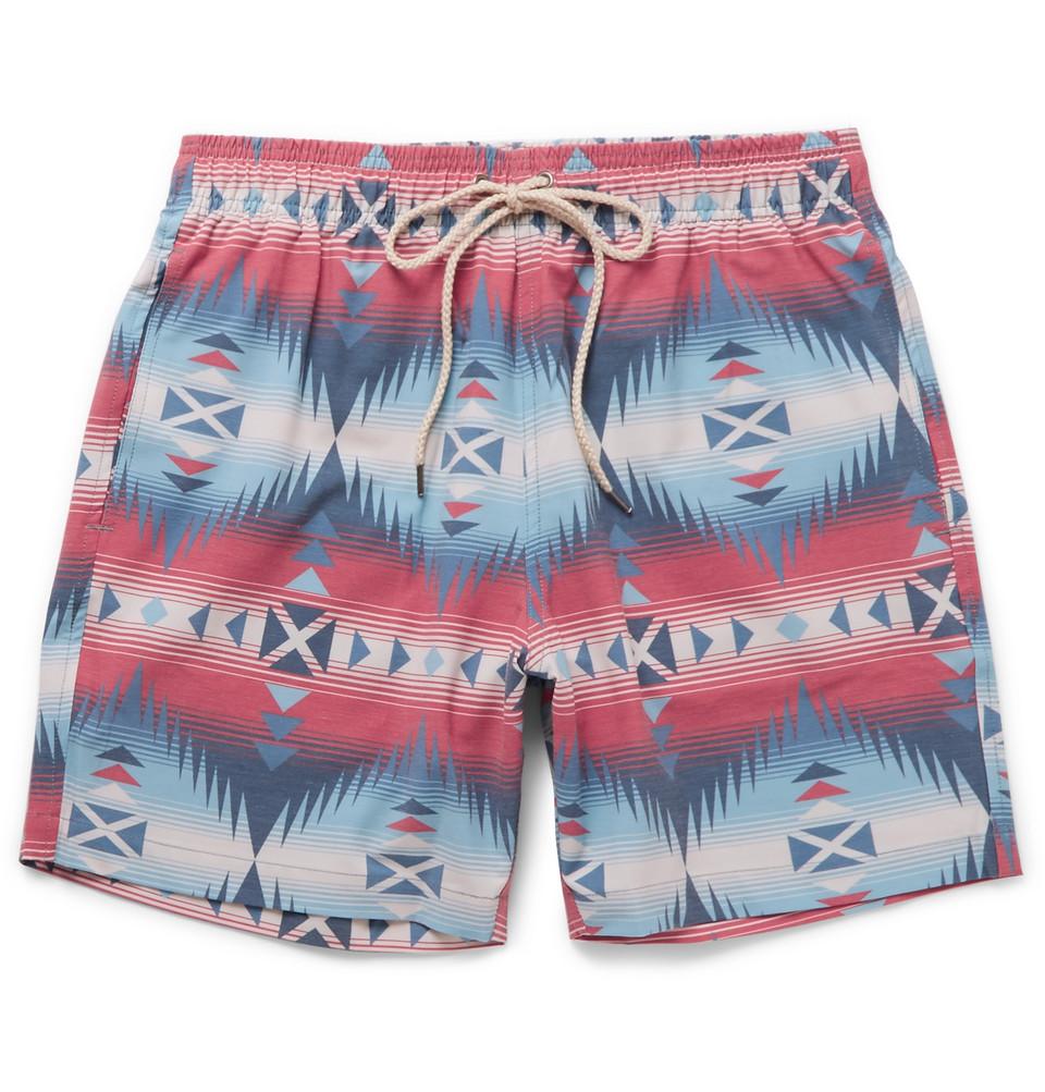 Beacon Mid-length Printed Swim Shorts - Multi