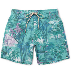 Faherty - Beacon Mid-Length Printed Swim Shorts