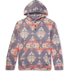 Faherty Pacific Brushed-Cotton Jacquard Hoodie