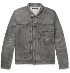 Fabric-Brand & Co Distressed Selvedge Denim Jacket