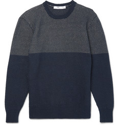 Inis Meáin Gansey Waffle-Knit Linen and Cotton-Blend Sweater