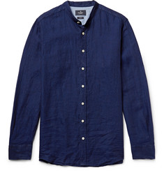 Hackett Slim-Fit Grandad-Collar Slub Linen Shirt
