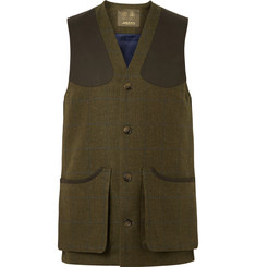 Musto Shooting Checked Wool-Blend Tweed Gilet